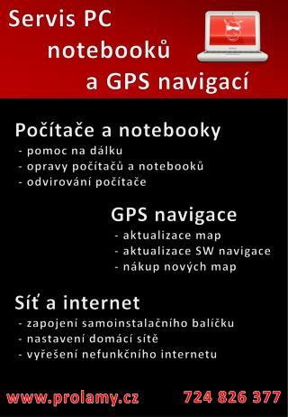 Servis PC notebooků a GPS navigací