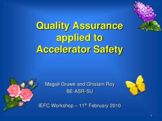 Quality Assurance applied to  Accelerator Safety