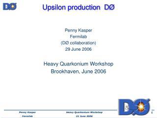 Upsilon production  D Ø