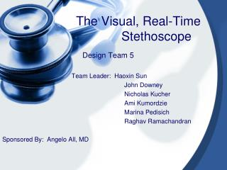 The Visual, Real-Time Stethoscope