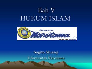 Bab  V HUKUM ISLAM