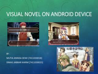 VISUAL NOVEL ON ANDROID DEVICE