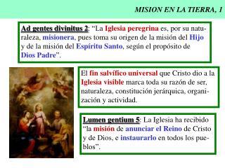 MISION EN LA TIERRA, 1