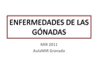 ENFERMEDADES DE LAS GÓNADAS