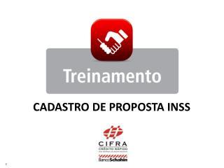 CADASTRO DE PROPOSTA INSS