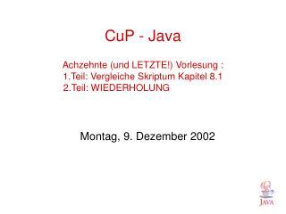 Montag, 9. Dezember 2002