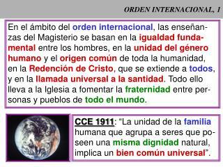 ORDEN INTERNACIONAL, 1