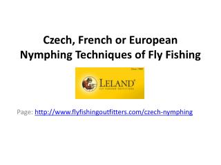 Czech, French and European fly fishing nymphing techniques
