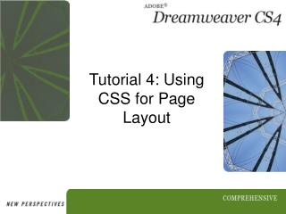 Tutorial 4: Using CSS for Page Layout