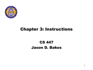 Chapter 3: Instructions