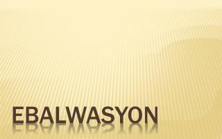 EBALWASYON
