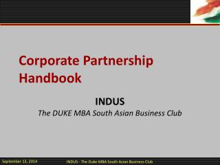 Corporate Partnership Handbook