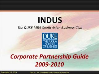 Corporate Partnership Guide 2009-2010