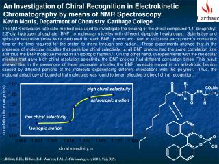 An Investigation of Chiral Recognition in Electrokinetic