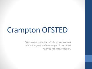 Crampton OFSTED