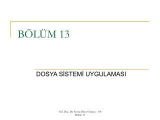 BÖLÜM 13