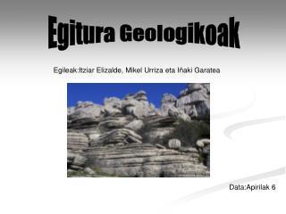 Egileak:Itziar Elizalde, Mikel Urriza eta Iñaki Garatea