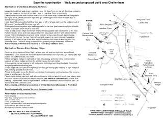 Save the countryside     Walk around proposed build area Cheltenham