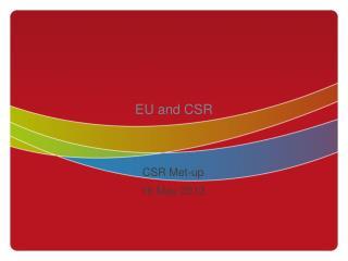 EU and CSR