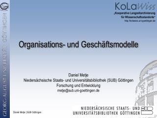 Organisations- und Gesch�ftsmodelle