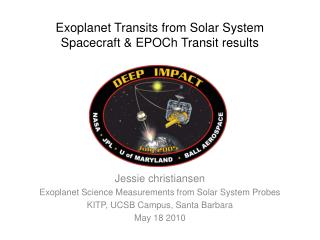 Exoplanet Transits from Solar System Spacecraft & EPOCh Transit results