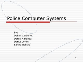 Police Computer Systems