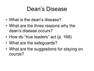 Dean�s Disease