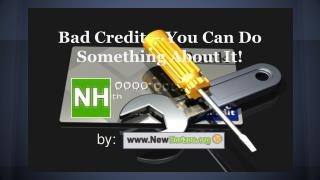 Bad Credit – You Can Do Something About It!