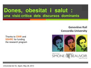 Dones, obesitat i salut :  una visió crítica dels discursos dominants