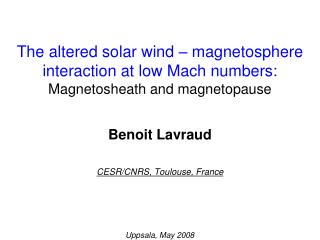 Benoit Lavraud   CESR