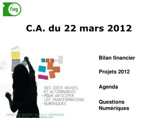 C.A. du 22 mars 2012