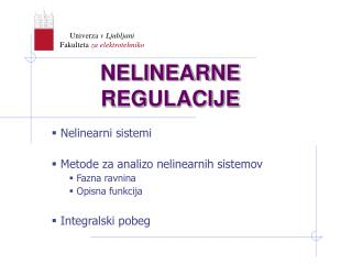 NELINEARNE REGULACIJE