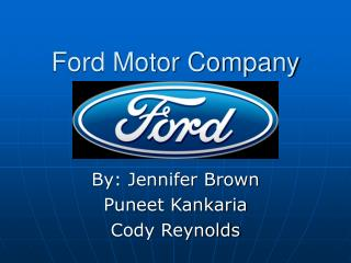 Ppt carron company 1950 1996 founded in michigan for Ford motor company credit card