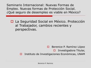Seminario Internacional: Nuevas Formas de Empleo. Nuevas formas de Protecci n Social.  Qu  seguro de desempleo es viable
