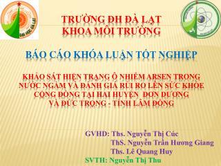 GVHD: Ths. Nguyễn Thị Cúc               ThS. Nguyễn Trần Hương Giang
