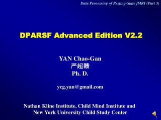 DPARSF Advanced Edition V2.2