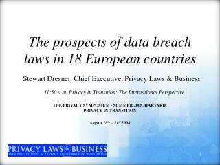 The prospects of data breach laws in 18 European countries