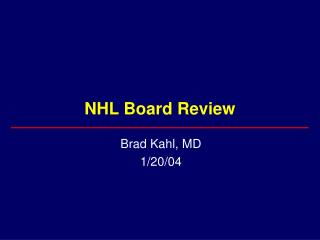 NHL Board Review