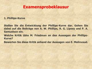Examensprobeklausur