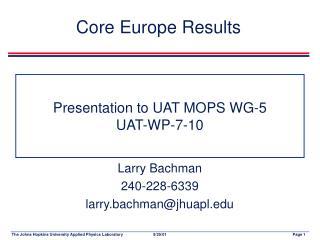 Presentation to UAT MOPS WG-5 UAT-WP-7-10