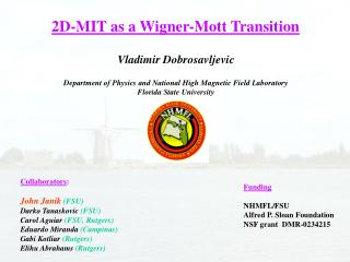 2D-MIT as a Wigner-Mott Transition