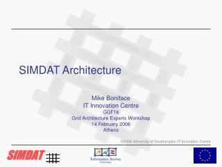 SIMDAT Architecture