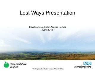Lost Ways Presentation