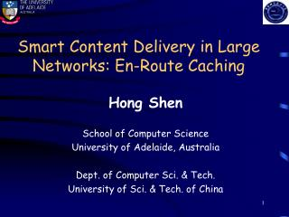 Smart Content Delivery in Large Networks: En-Route Caching