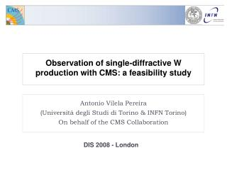 Observation of single-diffractive W production with CMS: a feasibility study