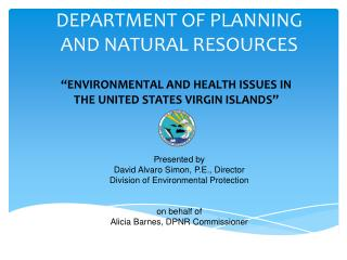 DEPARTMENT OF PLANNING  AND NATURAL RESOURCES