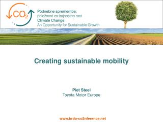 Creating sustainable mobility
