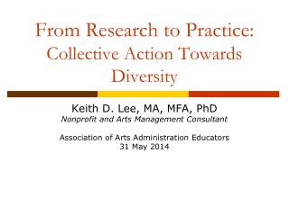 From Research to Practice:  Collective Action Towards Diversity