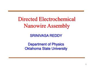 Directed Electrochemical Nanowire Assembly