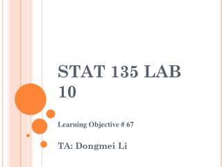 STAT 135 LAB 10